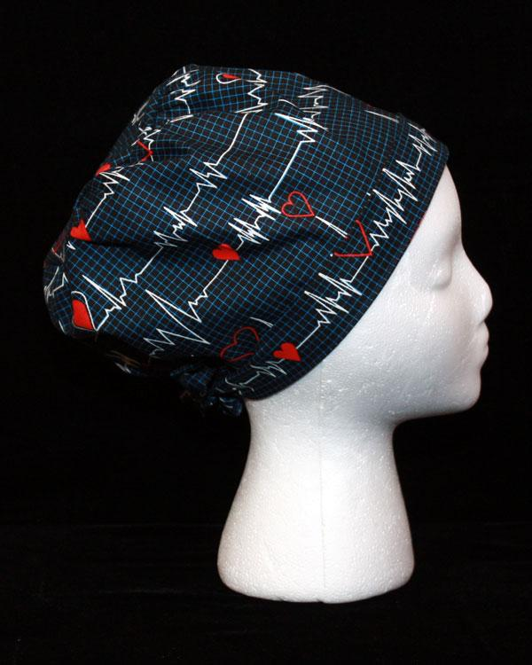 Irregular Heartbeat Scrub Hat