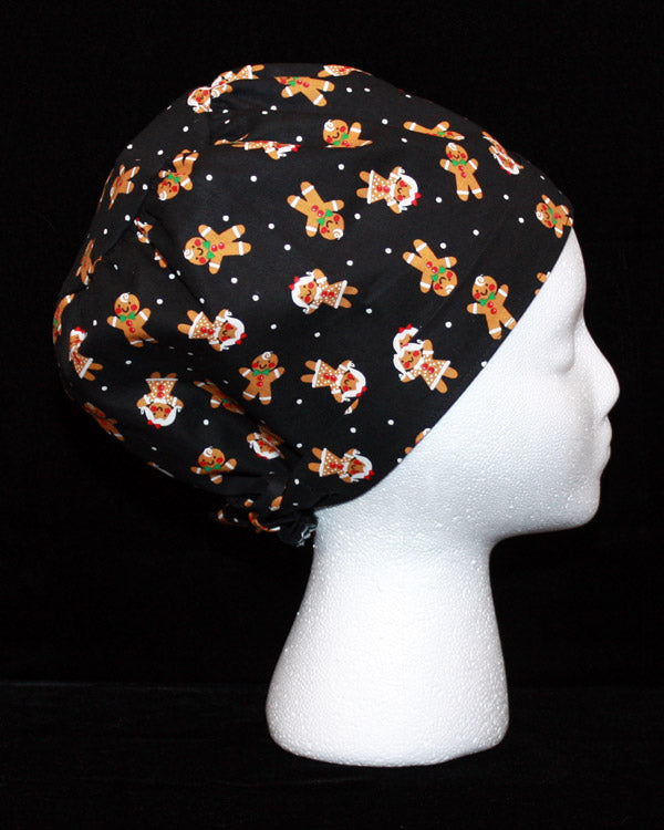 Gingerbread Men and Women Scrub Cap