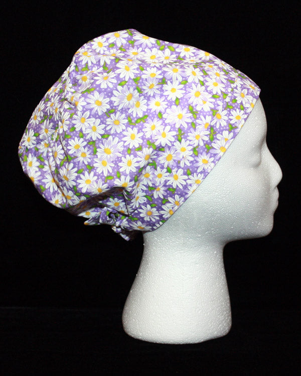 Purple Daisies Scrub Hat