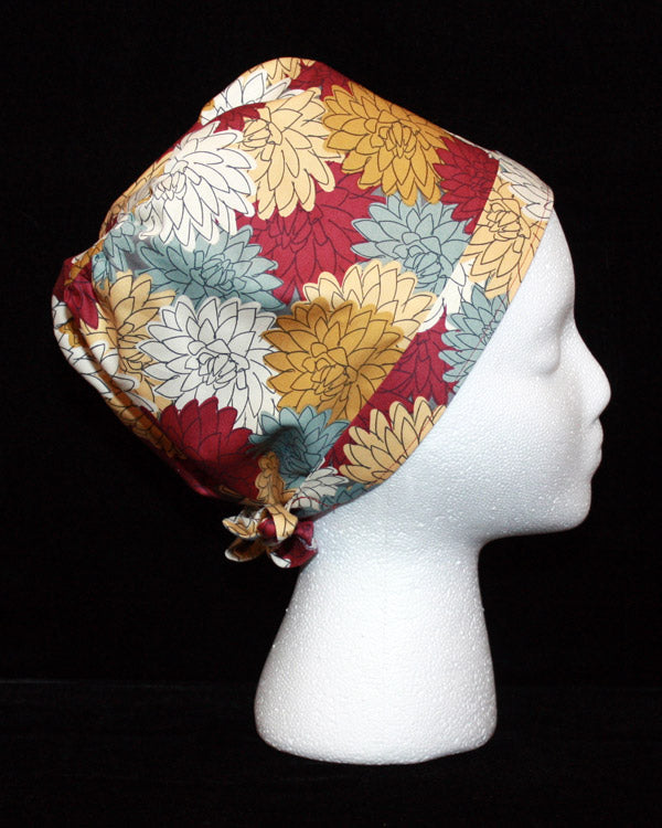 Multi-Coloured Mums Scrub Hat