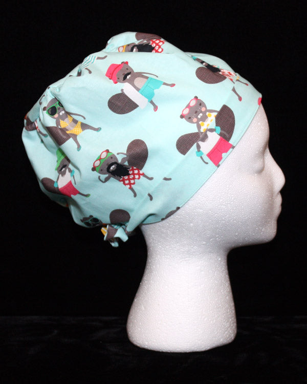 Pool Ready Beavers Scrub Cap