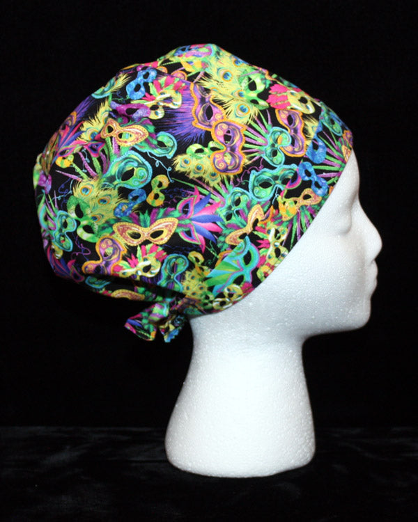 Mardi Gras Party Scrub Hat