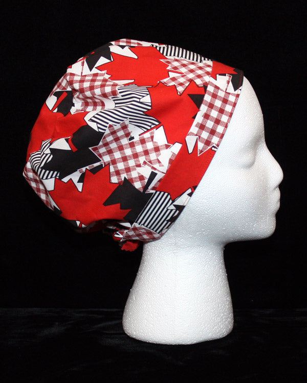 Plaid and Striped Maple Leafs Scrub Hat