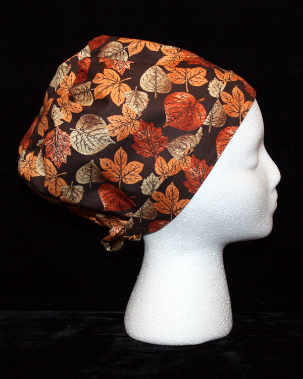 Fall Leaves Scrub Hat