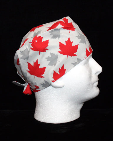MENS - Grey and Red Maple Leaves