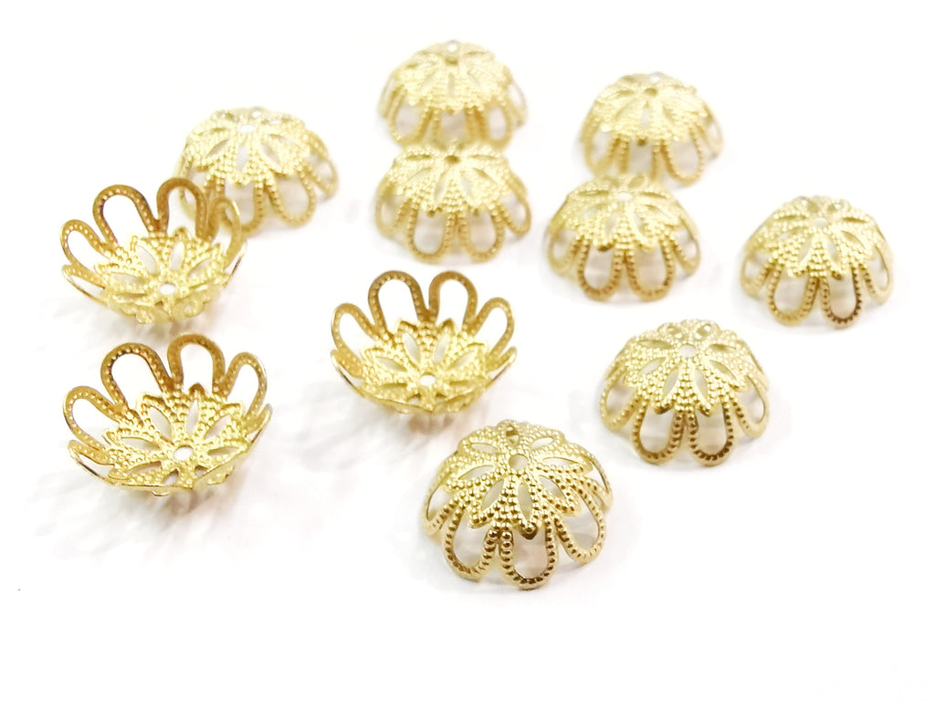 Bead Cap, Brass, 13mm, 18 Pieces | 銅珠蓋, 13mm, 18個