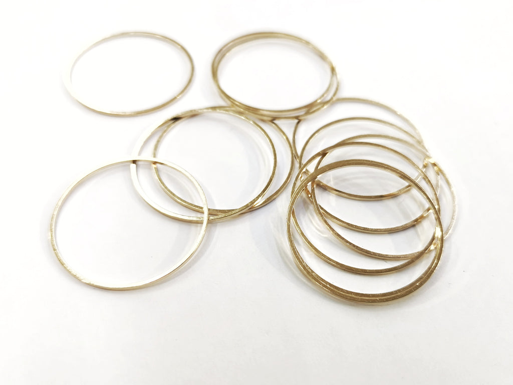 Brass Ring, Round, 30mm, 10pcs | 銅圈, 圓, 30mm, 10個