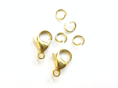Clasp Set, Stainless Steel, Golden, 9x13mm| 鏈扣套裝, 不鏽鋼, 9x13mm, 玫瑰金色