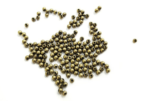 Brass Bead, 3.2mm, Ball, 250 Pieces Per Pack | 銅珠, 3.2mm圓珠, 250個
