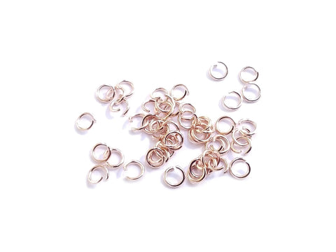 Jump Ring, 0.5x3mm, Stainless Steel in Rose Gold color, 100 Pieces  | 不鏽鋼開口圈, 0.5x3mm玫瑰金色, 100個