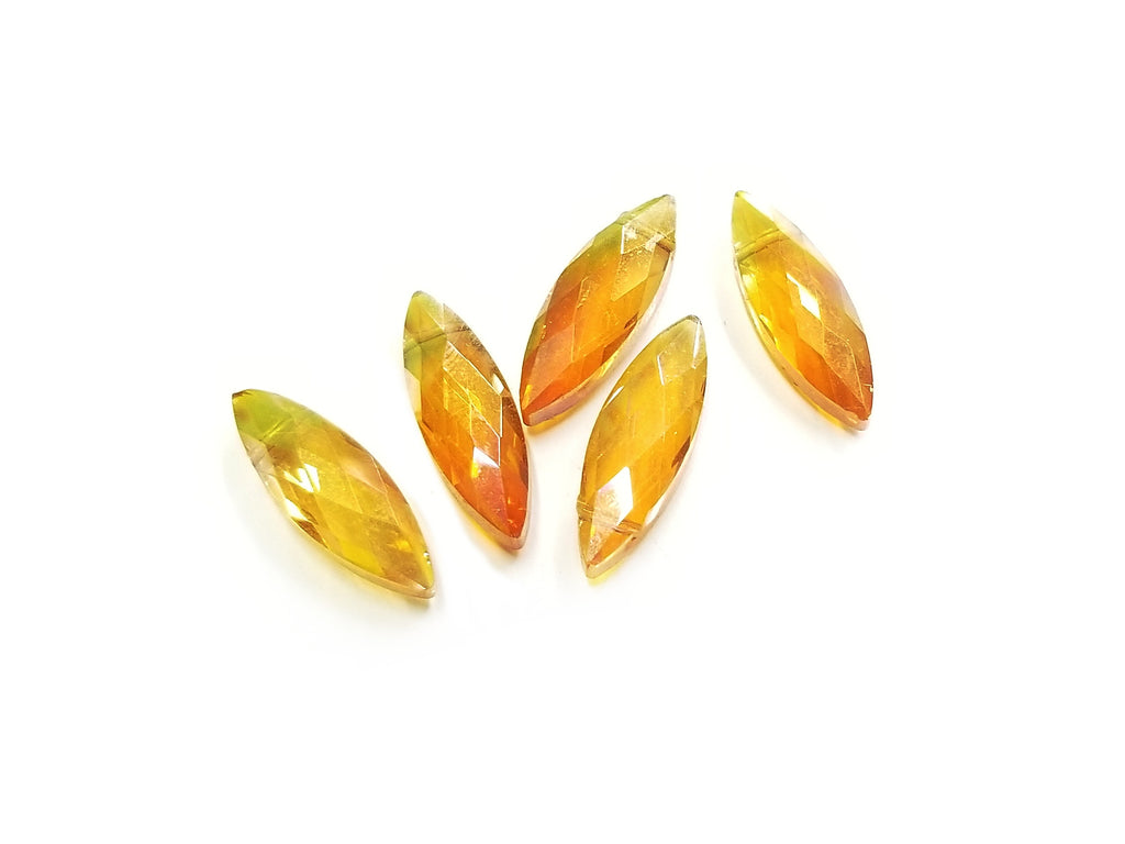 Bead,  Glass,  7x22mm Navette, 10 pieces | 7x22mm欖尖玻璃珠,10個