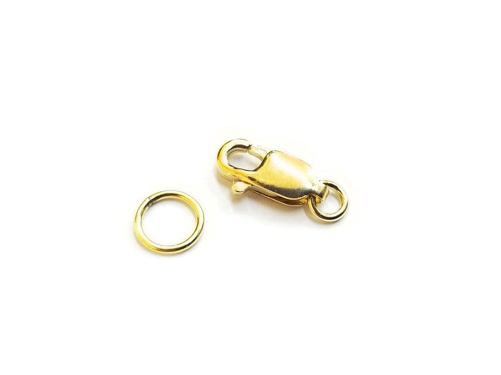 Clasp Set, 14KT Gold Filled, 10mm, 1 Set | 龍蝦扣,14KT包金,10mm,1套