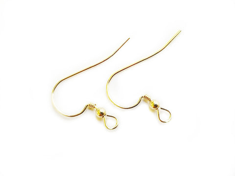 Earring Hook, Gold-filled, 22mm, 1 Pair | 包金耳勾, 22mm,1對