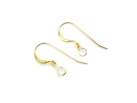 Earring Hook, Gold-filled, 20mm, 1 Pair | 包金耳勾, 20mm,1對