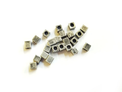 Bead, Brass, 3x3mm Square, 50 Pieces | 3x3.3mm方形銅珠,50個