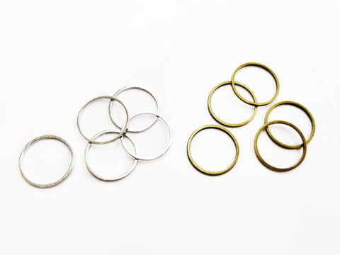 Ring, Brass, 16mm, 20 Pieces | 銅圈,16mm, 20個