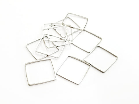 Ring, Brass, Square, 20x20mm, 10 Pieces | 20mm方形銅圈,10個