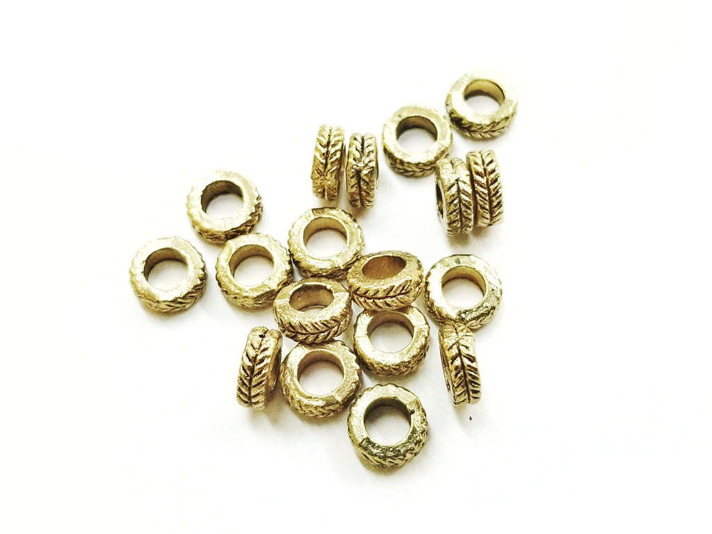 Spacer, Alloy, 3x7mm, Antique Gold, 40 Pieces | 3x7mm古金色合金圈,40個