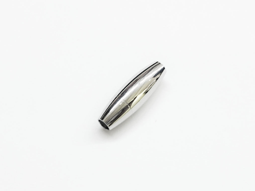 Stainless Steel Magnetic Clasp, 7x20mm Barrel, 3mm Hole, Price Per Piece - amakeit bead 天富