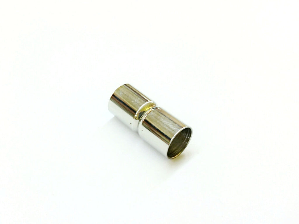 8x18mm Stainless Steel Magnetic Clasp, Tube, 7mm Hole, Price Per Piece - amakeit bead 天富