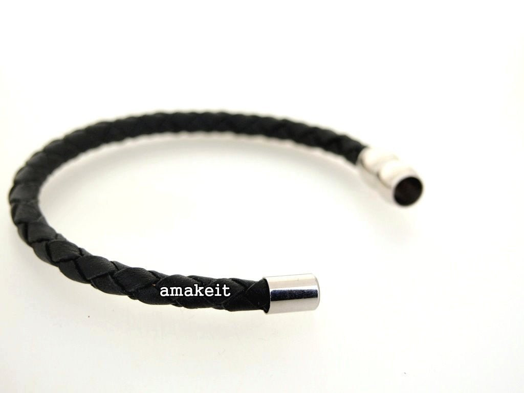 Stainless Steel Magnetic Clasp, 9x19mm, 6mm Hole, $22 HKD - amakeit bead 天富