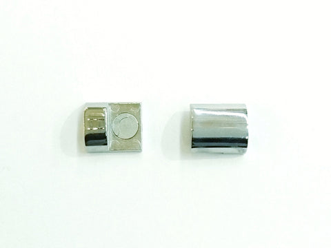 Stainless Steel Magnetic Clasp, 12x18mm, 3mm Hole, Price Per Piece - amakeit bead 天富