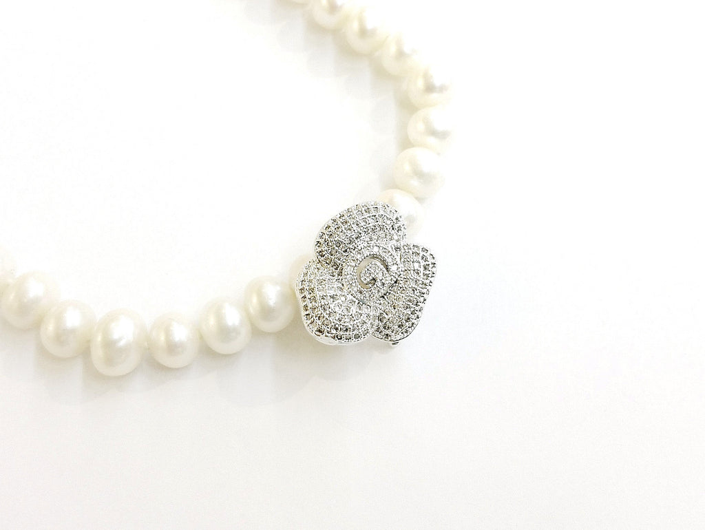 Snap Clasp, 18x20mm, Rose, Pearl Clasp, Price Per Piece - amakeit bead 天富