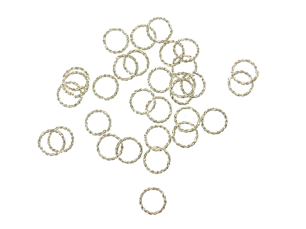 Jump Rings, Brass, Twisted Open Jump Rings, 6mm,  24 Pieces | 銅開口圈, 扭紋, 6mm, 24個