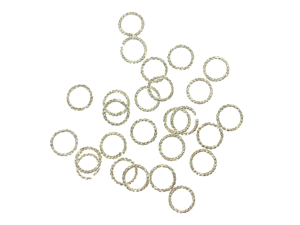 Jump Rings, Brass, Twisted Open Jump Rings, 7mm, 24 Pieces | 銅開口圈, 扭紋, 7mm, 24個
