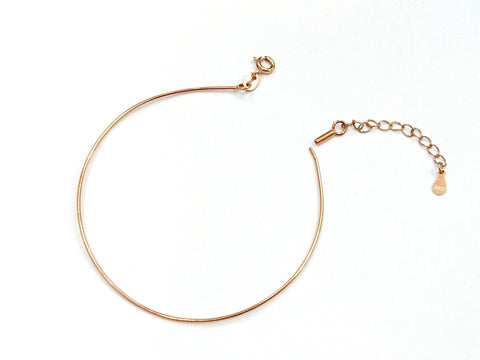 sterling silver bracelet, screw-open end | 925銀手鈪, 可扭開