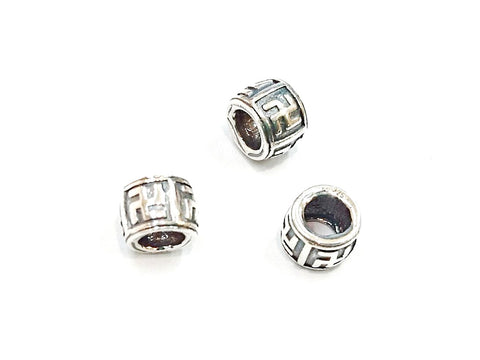 Bead, Sterling Silver, 5x6.7mm | 桶形銀珠, 5x6.7mm