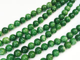 Dyed Agate Smooth Round Beads, Imitation green jasper, Gemstone Beads | 天然水晶, 瑪瑙, 仿玉色