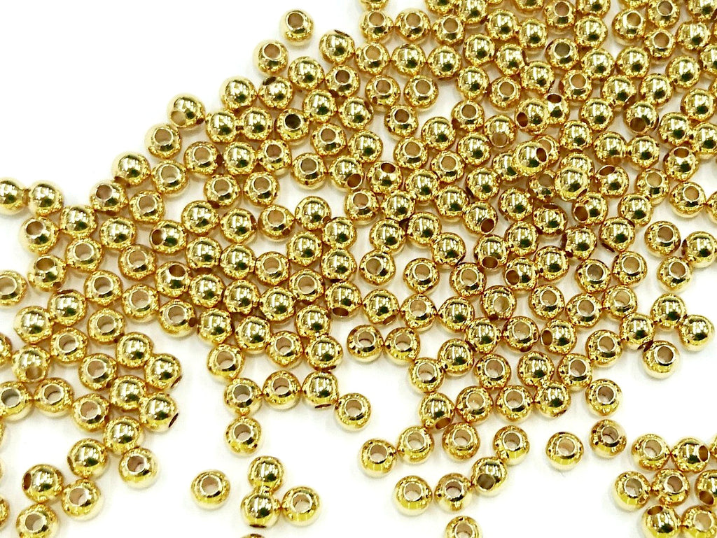 Bead, Brass, 4mm, Solid Ball, Assorted colors | 4mm圓形實心銅珠, 多色