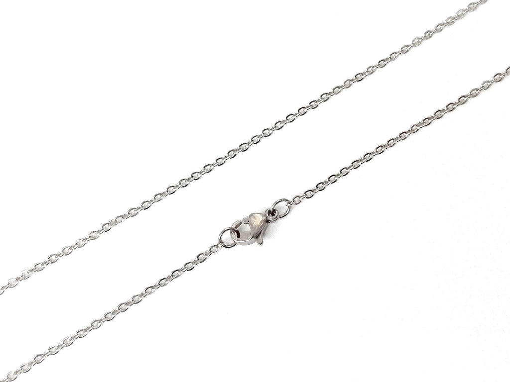 Stainless Steel Necklace, 1.5mm Flat Cable Chain | 不鏽鋼項鏈 1.5mm十字扁鏈