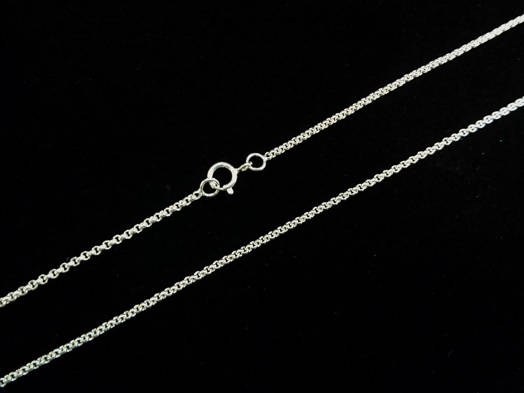 "16"" Sterling Silver Necklace, 1.5mm Rolo Chain 