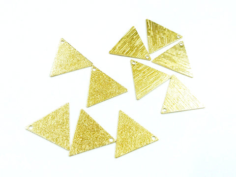 Brass Charm, 16.5x19mm, triangle, raw brass, 10 pcs | 三角形銅片, 16.5x19mm, 黃銅色, 10個