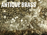 Brass sequins, 4mm, 2 holes, 200 pcs | 圓銅片, 4mm, 雙孔, 200個