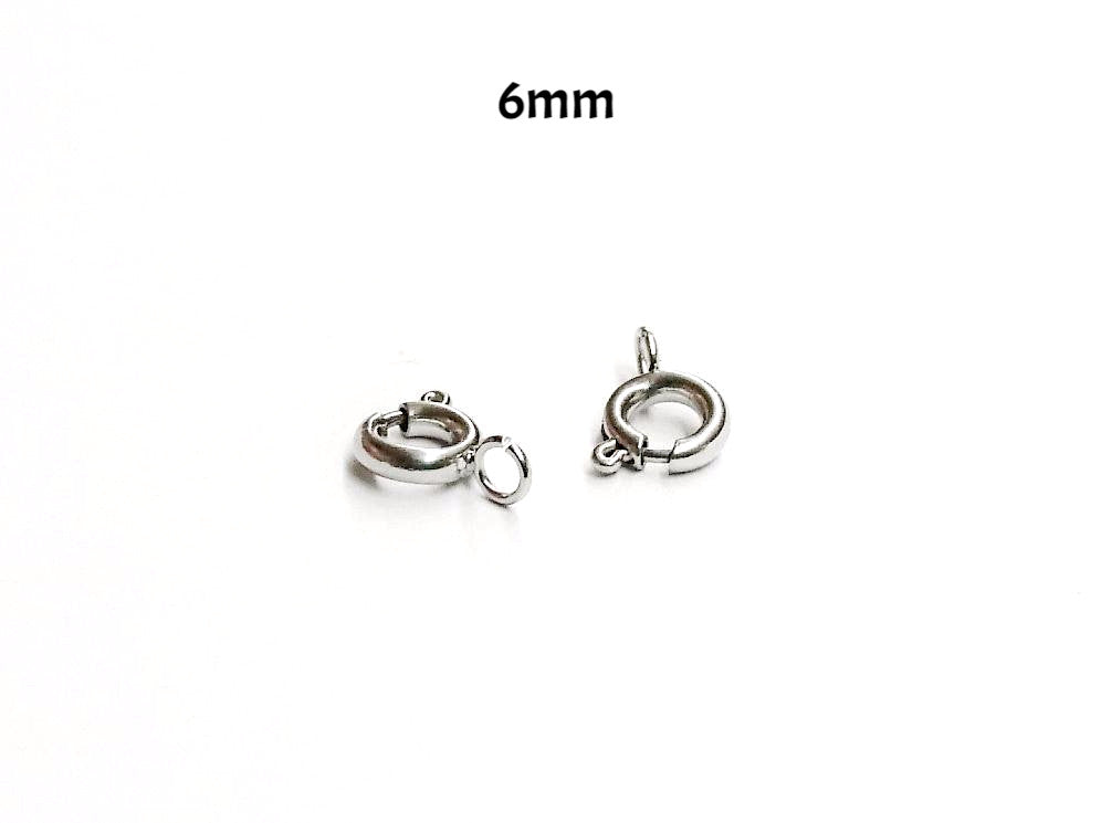 Spring Clasp, 6mm, Stainless Steel, 4 pcs | 彈簧扣, 6mm, 不鏽鋼, 4個