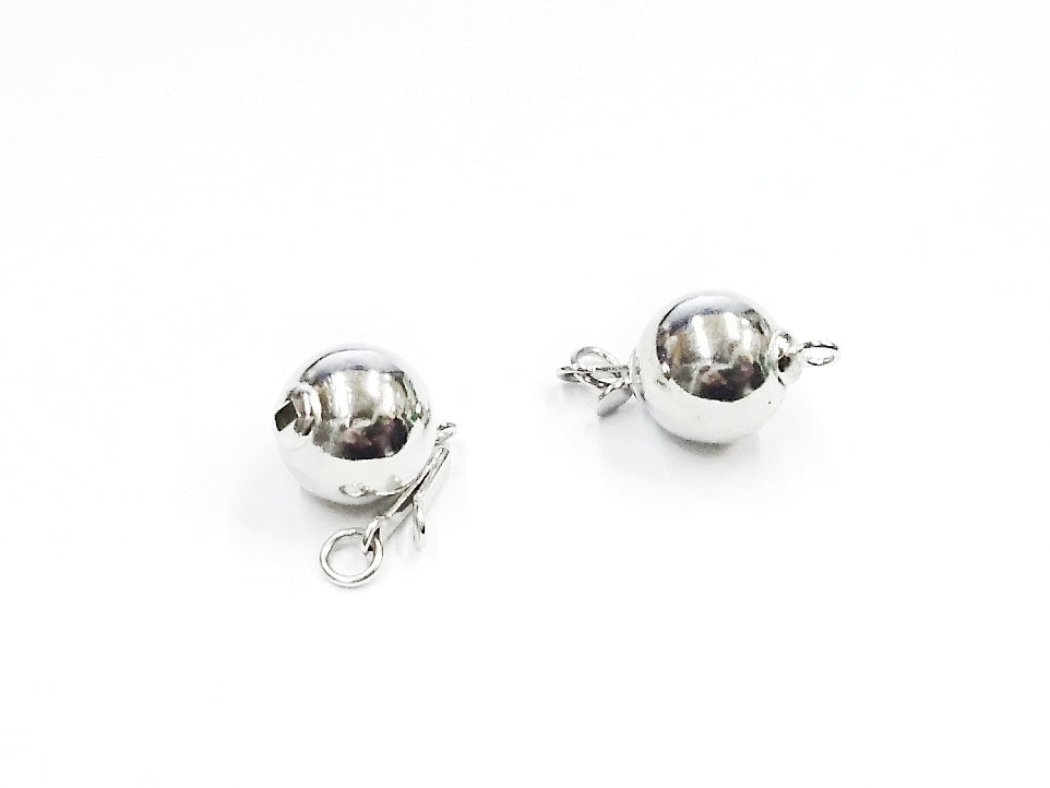 Box Clasp, Sterling Silver, 7mm/10mm Ball | 插扣, 925銀, 7mm/10mm