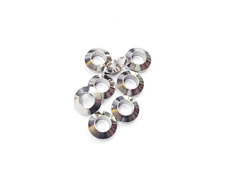Spacer, Stainless Steel, 3.2x9.5mm, Large Hole Bead, 2 Pieces | 不鏽鋼隔珠, 3.2x9.5mm, 2個