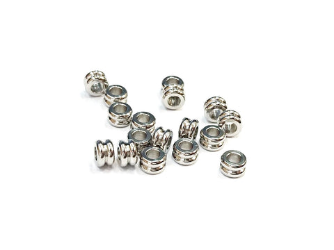 Stainless Steel Beads, 3x5mm, Tube, 24 Pieces | 不銹鋼珠, 3x5mm, 管珠, 24粒