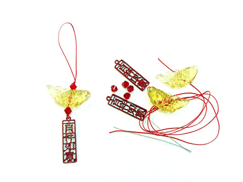 "DIY kit, CNY ornament, ""Great fortune"" 