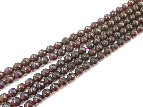 Gemstone beads, round, garnet, 5-6mm | 天然水晶, 圓形, 石榴石, 5-6mm