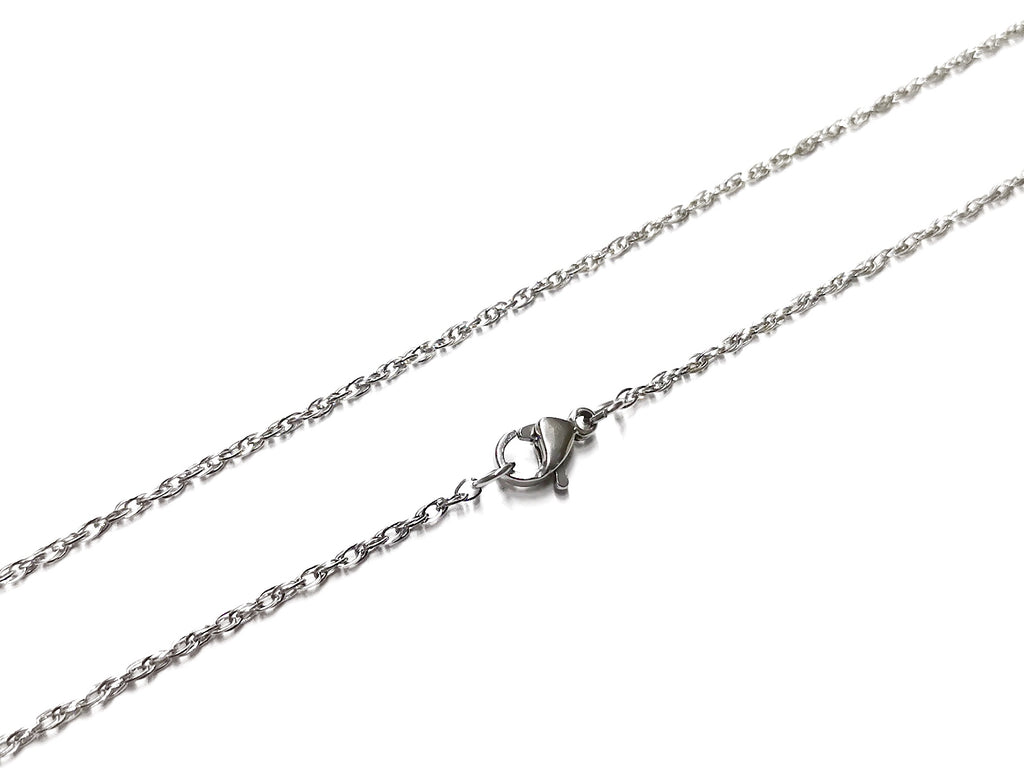 "24"" Stainless Steel Necklace, 1.5mm Twisted Cable Chain 