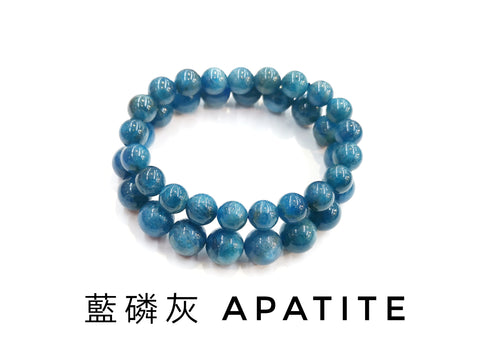 Apatite, Bracelet, Single-Loop Elastic | 藍磷灰, 單圈手鏈