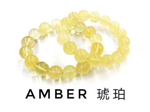 Amber, Bracelet, Single-Loop Elastic | 琥珀, 單圈手鏈