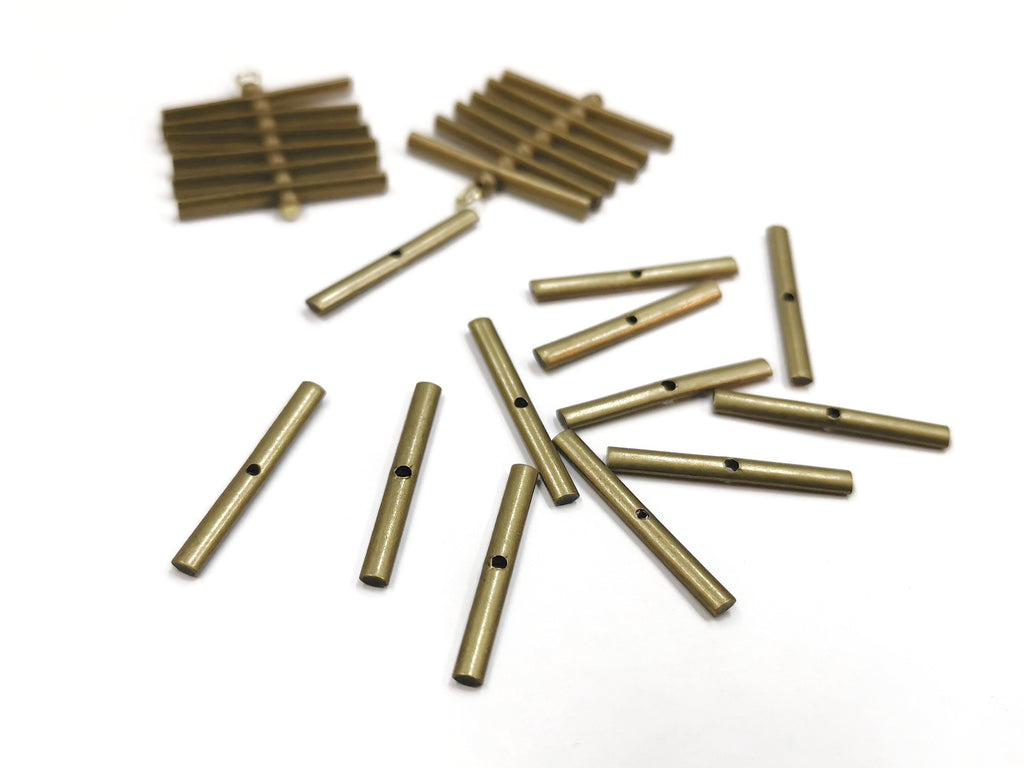 Brass Bead, 21mm, long bar, 20 pcs | 銅珠, 21mm, 長條, 20個