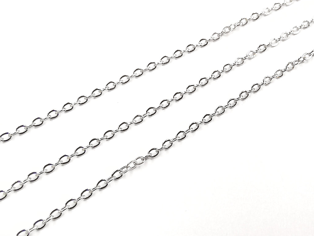 Stainless Steel Chain, Flat Cable, 1.2mm | 不鏽鋼鏈, 1.2mm, O型壓扁鏈