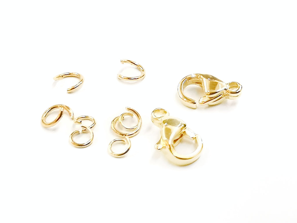 Clasp Set, Stainless Steel, Golden, 9mm, 2 Sets | 鏈扣套裝, 9mm, 不鏽鋼, 金色
