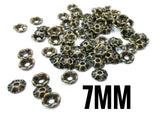 Brass sequins, 7mm, centre hole, 100 pcs | 圓銅片, 7mm, 中孔, 100個